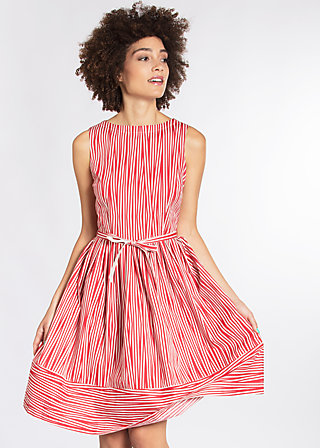 love man dress, trot the fox stripes, Webkleider, Rot