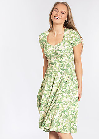 ringelpietz dress , love for leaves, Jerseykleider, Grün