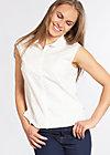 tender slenderness blousette , fresh white, Blusen, Weiß