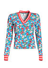 win the match sweat , mountain flower, Sweater, Blau