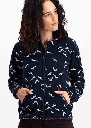 balkan woods jacket, seagull in vienna, Fleece Jackets, Blau
