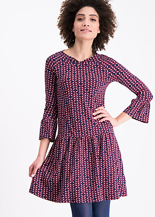 dream of jeanny dress , always free for tea, Jersey Dresses, Blau