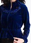 flying carpet jacket, blue velvet, Zipperjacken, Blau