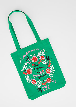 just wunderbar tote bag, meet me in green, Accessoires, Grün