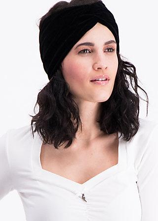 knot of wisdom hairband, black velvet, Haarbänder, Schwarz