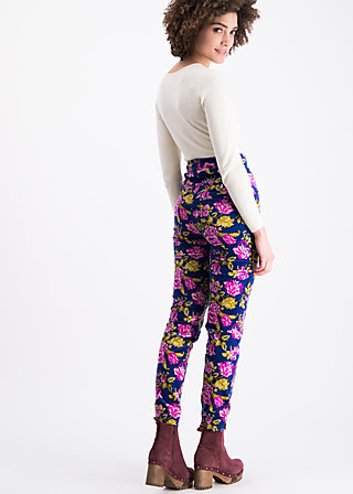 non smoking cigarette pants, persian poppy, Trousers, Blue