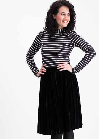 pleats please skirt, black velvet, Röcke, Schwarz