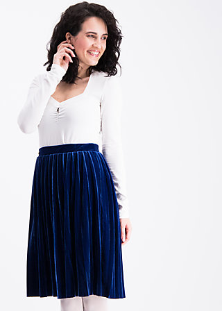 pleats please skirt, blue velvet, Röcke, Blau