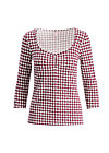 savoir-vivre shirt , jeannies tiles, Shirts, Red