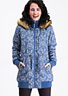schneewoelkchen longjacket, dutch ornamental, Funktionsjacken, Blau
