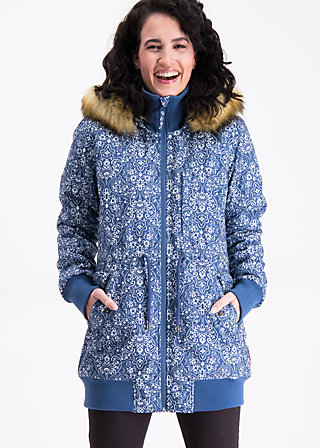 schneewoelkchen longjacket, dutch ornamental, Jacken & Mäntel, Blau