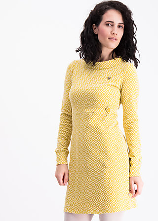 swinging occident dress, morning cabin, Knitted Dresses, Gelb