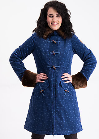 velvet garden coat , dots of vienna, Jackets & Coats, Blue