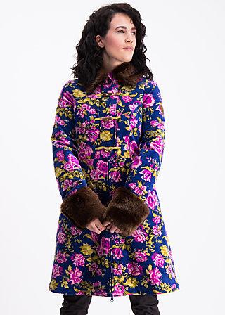 velvet garden coat , persian poppy, Mäntel, Blau