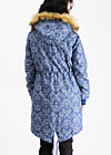 winter wonder woods parka, dutch ornamental, Jacken & Mäntel, Blau