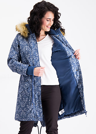 winter wonder woods parka, dutch ornamental, Mäntel, Blau