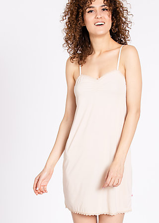 logo under dress, underdress nude, Unterwäsche, Beige