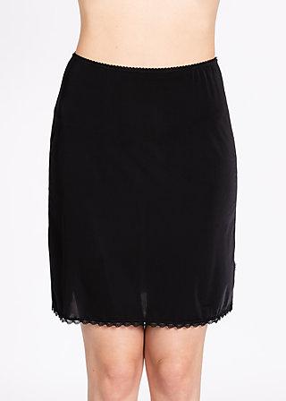 logo under skirt, underdress black, Underwear, Schwarz
