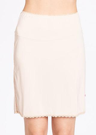 logo under skirt, underdress nude, Underwear, Beige