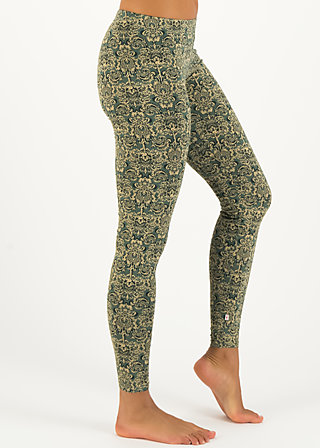 a step in the dark legs, pattern poetry, Leggings, Grün