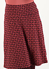 Knee Length Skirt ahoi plate, anni autumn, Skirts, Red