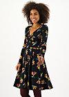 Wrap Dress autumn saloon, berrie birds, Dresses, Black