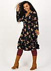 autumn saloon robe, berrie birds, Dresses, Black