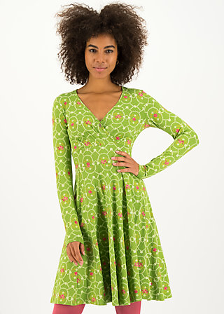 Wrap Dress autumn saloon, flowery willow, Dresses, Green