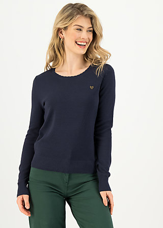 Knitted Jumper chic mystique, suited in blue, Cardigans & lightweight Jackets, Blue