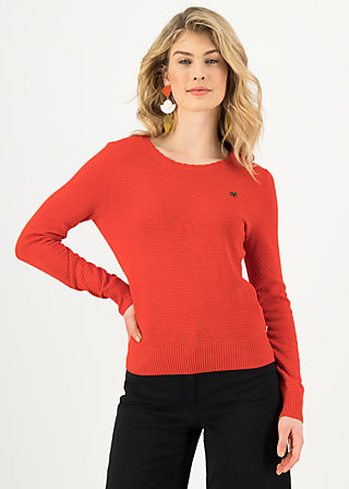 Strickpullover chic mystique, suited in red, Cardigans & leichte Jacken, Rot