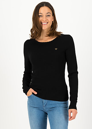 Strickpullover chic mystique, suited in black, Cardigans & leichte Jacken, Schwarz
