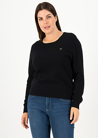 Knitted Jumper chic mystique, suited in black, Cardigans & lightweight Jackets, Black