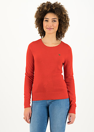 Knitted Jumper chic mystique, suited in red, Cardigans & lightweight Jackets, Red