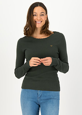 Strickpullover chic mystique, suited in thyme, Cardigans & leichte Jacken, Grün