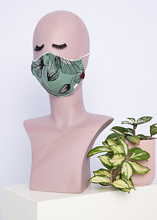 community mask, falling leaves, Accessoires, Green