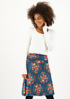 Knee Length Skirt daily poetry, happy harvest, Skirts, Blue