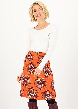 daily poetry skirt, glory harvest, Röcke, Orange