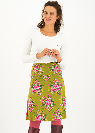 daily poetry skirt, joyful harvest, Röcke, Grün