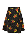 Circle Skirt elfentanz, forest flower, Skirts, Black