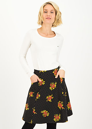 elfentanz jupe, forest flower, Skirts, Black