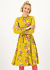 Shirt Dress heart full of joy, oh my deer, Dresses, Yellow