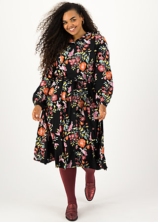 Blusenkleid heart full of joy, fall finch, Kleider, Schwarz