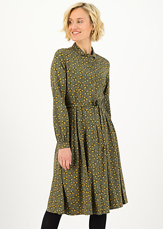 Shirt Dress heart full of joy, nut of mud, Dresses, Green