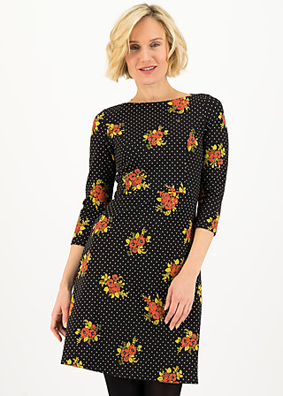 Shift Dress home sweet robe, forest flower, Dresses, Black