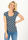 late summer belle shirt, picking apple, Shirts, Blau