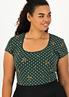 Jersey T-Shirt late summer belle, tiny hazelnut, Shirts, Black