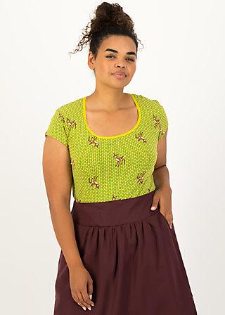 late summer belle shirt, deer love, Shirts, Grün
