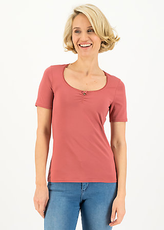 logo balconette tee, just me in rosewood, Shirts, Rosa