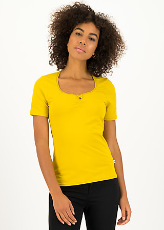 logo balconette tee, just me in yellow, Shirts, Yellow
