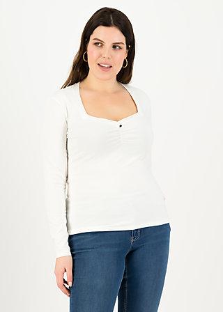 logo heart longsleeve, just me in white, Shirts, Weiß
